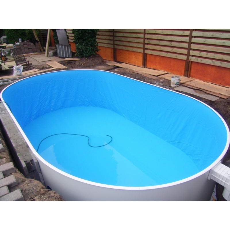 Oval swimmingpool totalbyg l s mere her for Swimmingpool oval