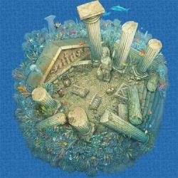 Mosaik motiv - Roman ruins