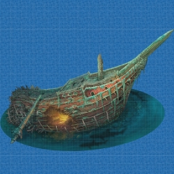 Mosaik motiv - Treasure ship