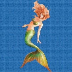 Mosaik motiv - Mermaid