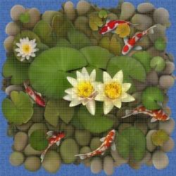 Mosaik motiv - Koi fish