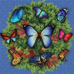 Mosaik motiv - Butterflies