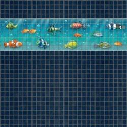Mosaik border - Fish