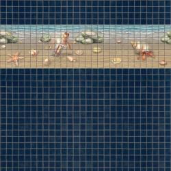 Mosaik border - Beach