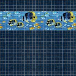 Mosaik border - Fish 2