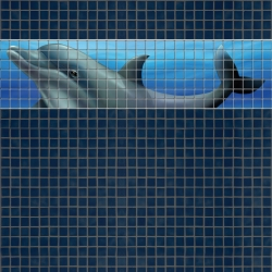 Mosaik border - Dolphin