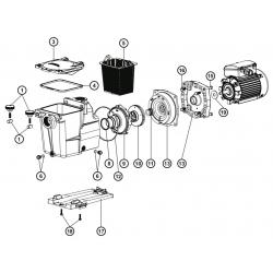 Reservedele til Hayward Super Pump cirkulationspumper